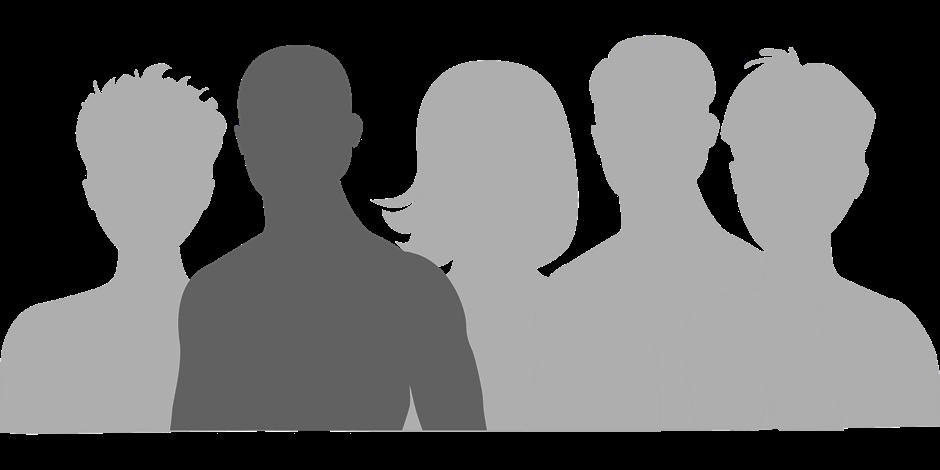 Besucher schwarz weiß