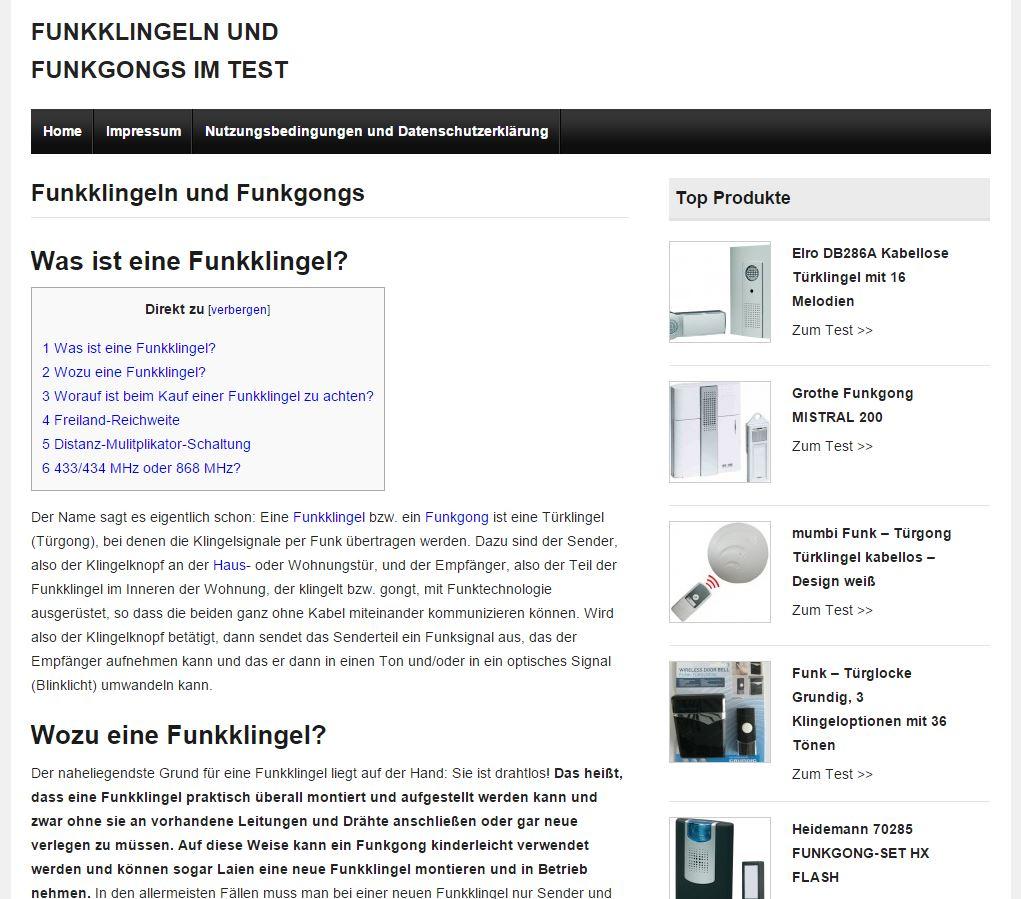 Funkklingeln.com - Analyse