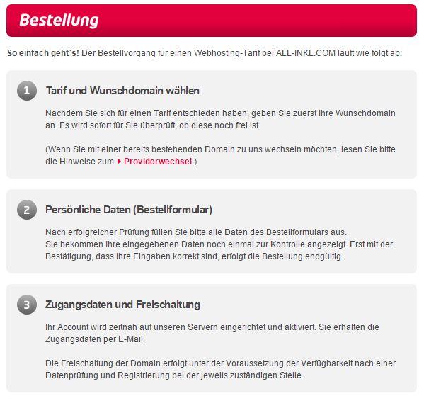 All Inkl - Bestellung - Anleitung