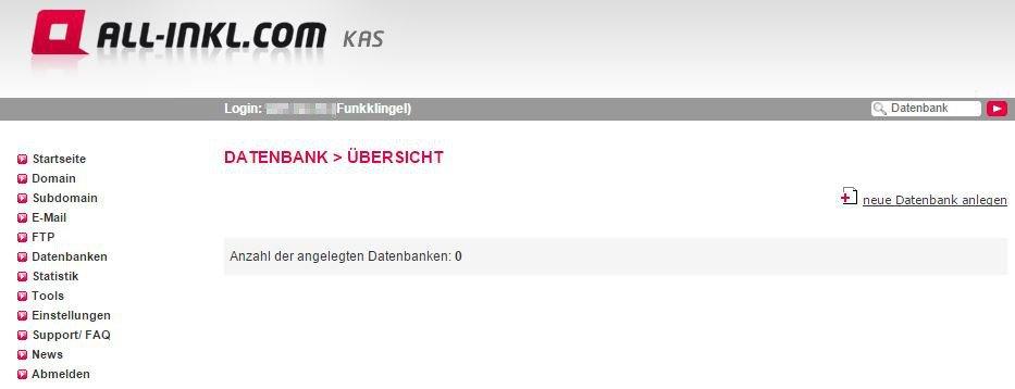 All Inkl KAS - Datenbank - Übersicht