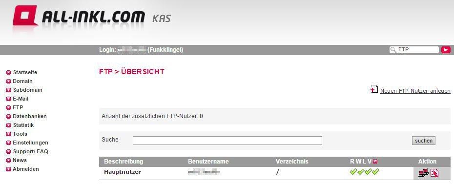 All Inkl KAS - FTP - Übersicht