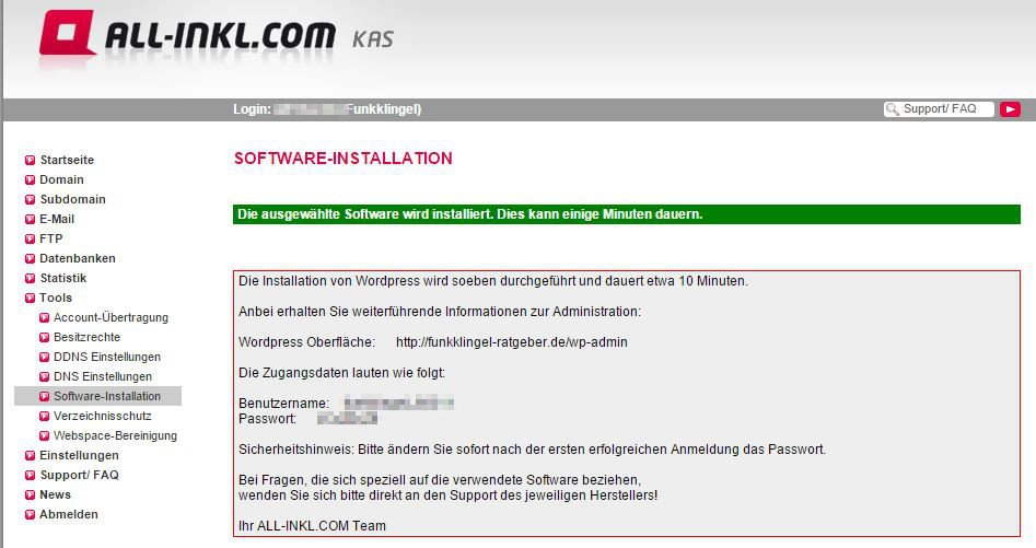 All Inkl KAS - Software-Installation - Fertig