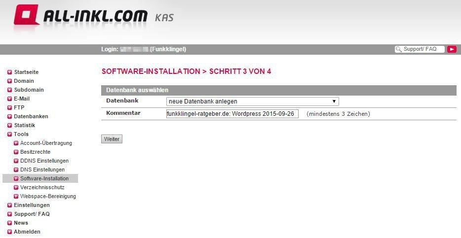 All Inkl KAS - Software-Installation - Schritt 3 von 4