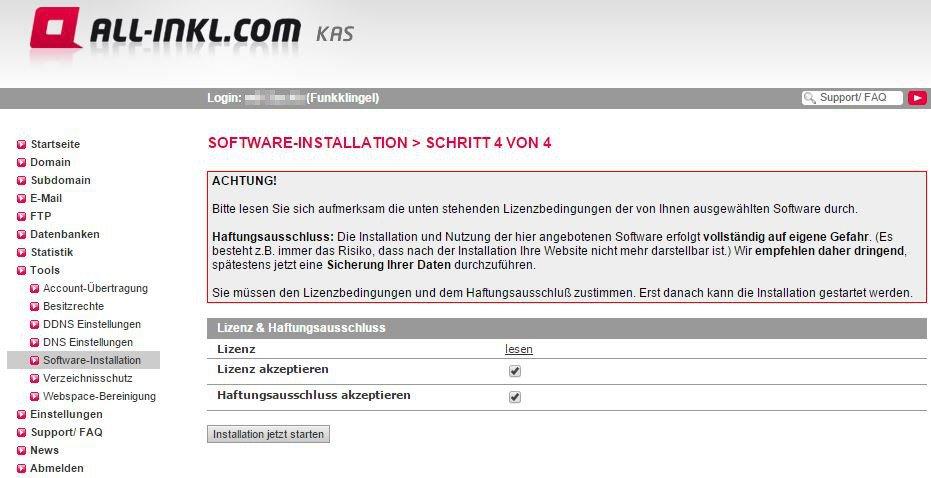 All Inkl KAS - Software-Installation - Schritt 4 von 4