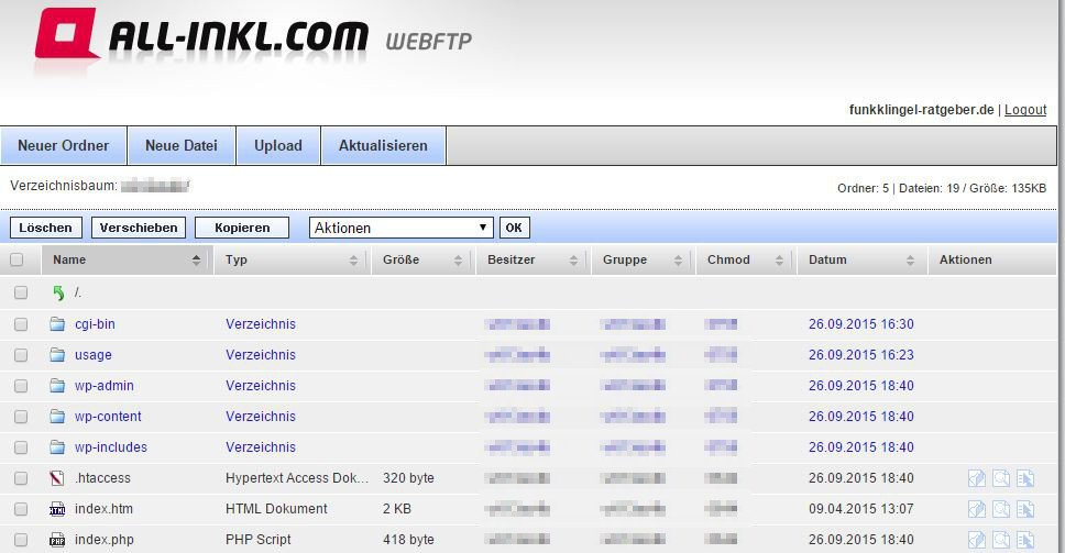 All Inkl - WebFTP