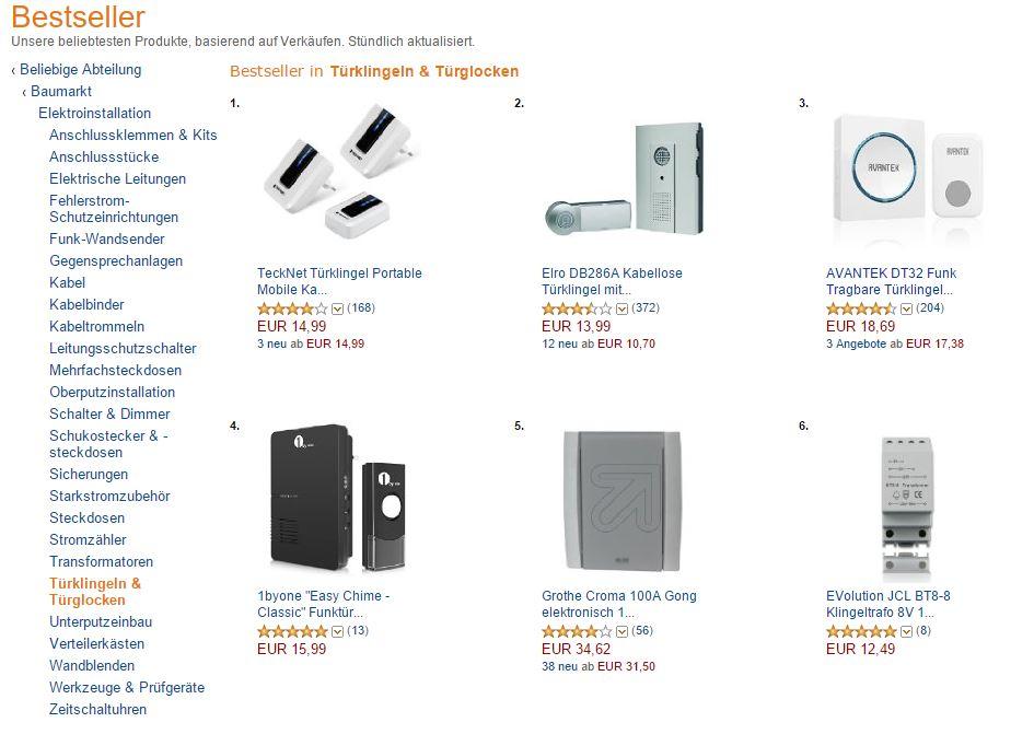 Amazon - Bestseller - Verkaufsrang