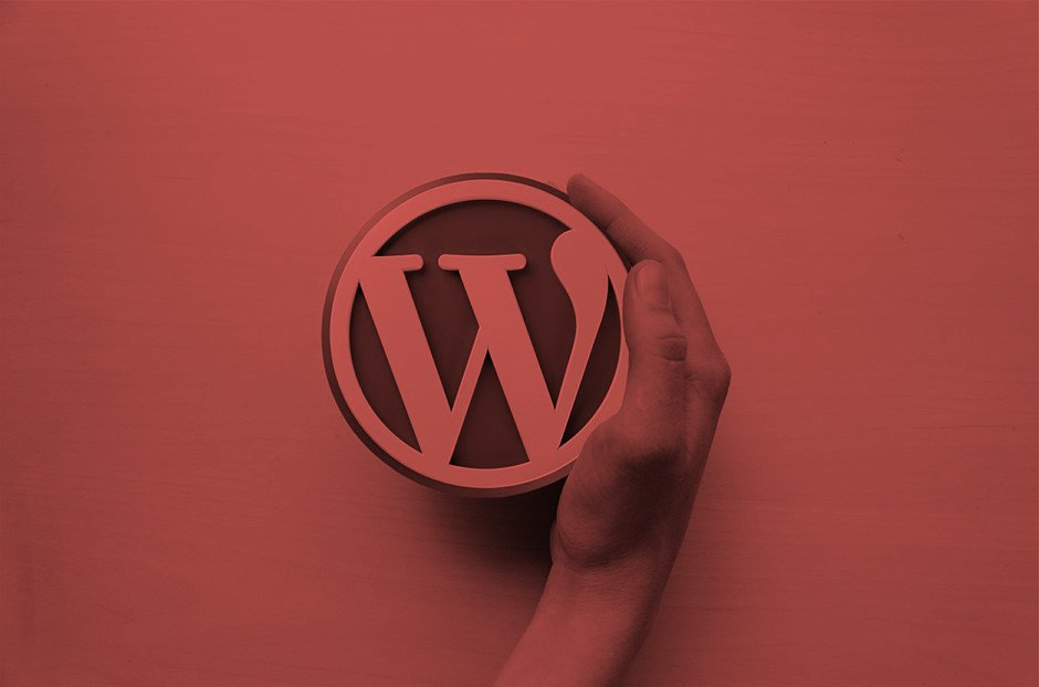 Wordpress Logo mit Hand