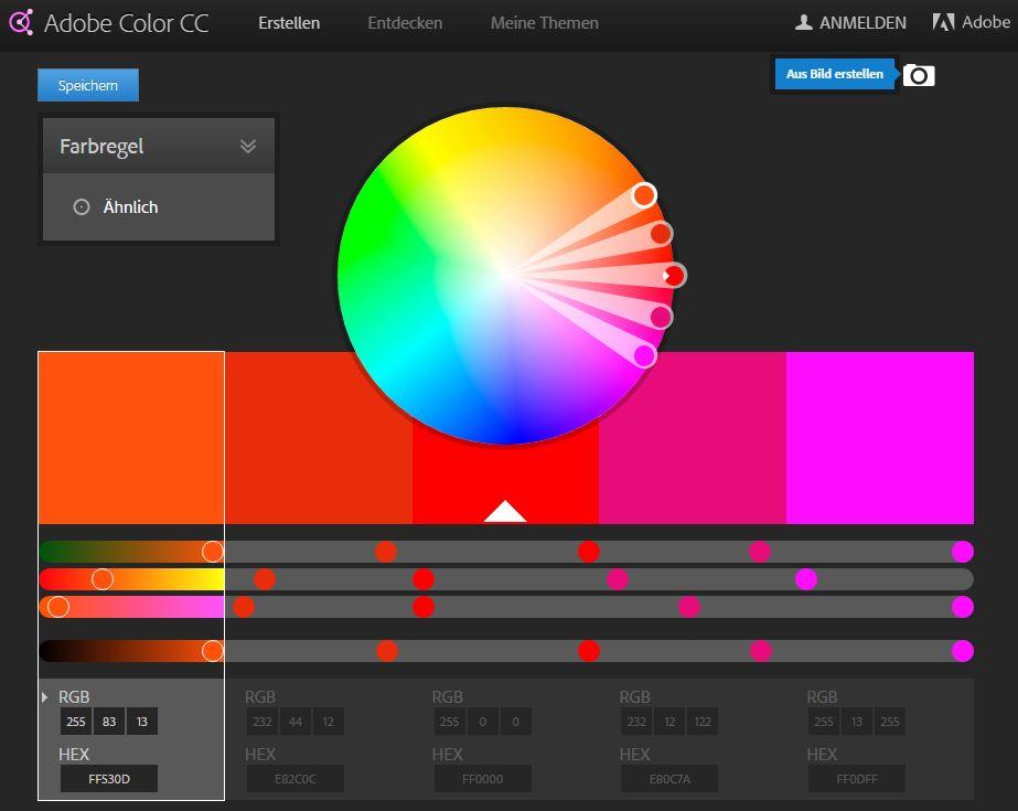 Adobe Color CC - Aus Bild erstellen