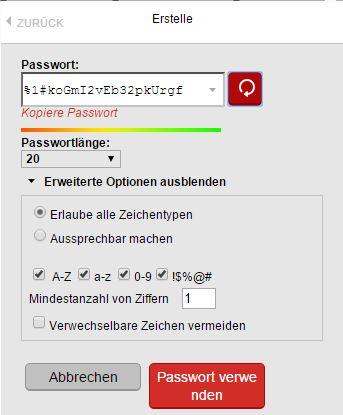 LastPass - Sicheres Passwort erstellen