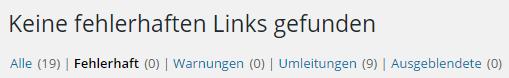 Broken Link Checker - Keine fehlerhaften Links gefunden