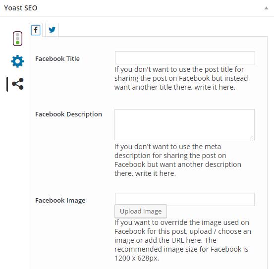 Yoast SEO - Sharing - Facebook und Twitter