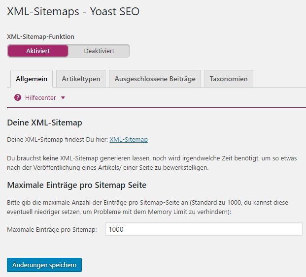 Yoast SEO - XML Sitemaps