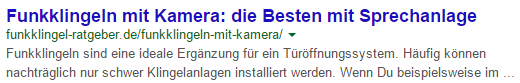 Meta Description mit Fließtext