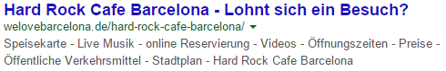Meta Description mit Suchintention