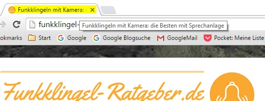 Meta Title Tag im Browser Tab