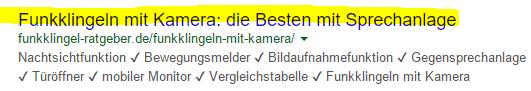 Meta Title Tag in den Suchergebnissen