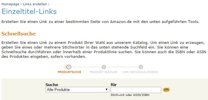 Amazon - Einzeltitel-Links