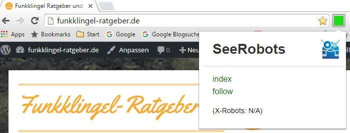 SeeRobots - Chrome Erweiterung