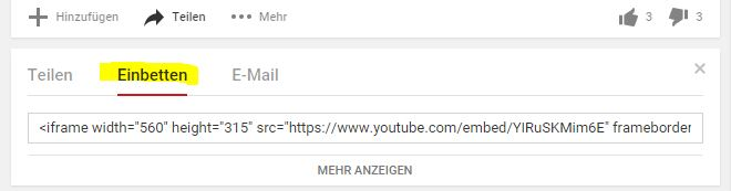 YouTube Videos einbetten