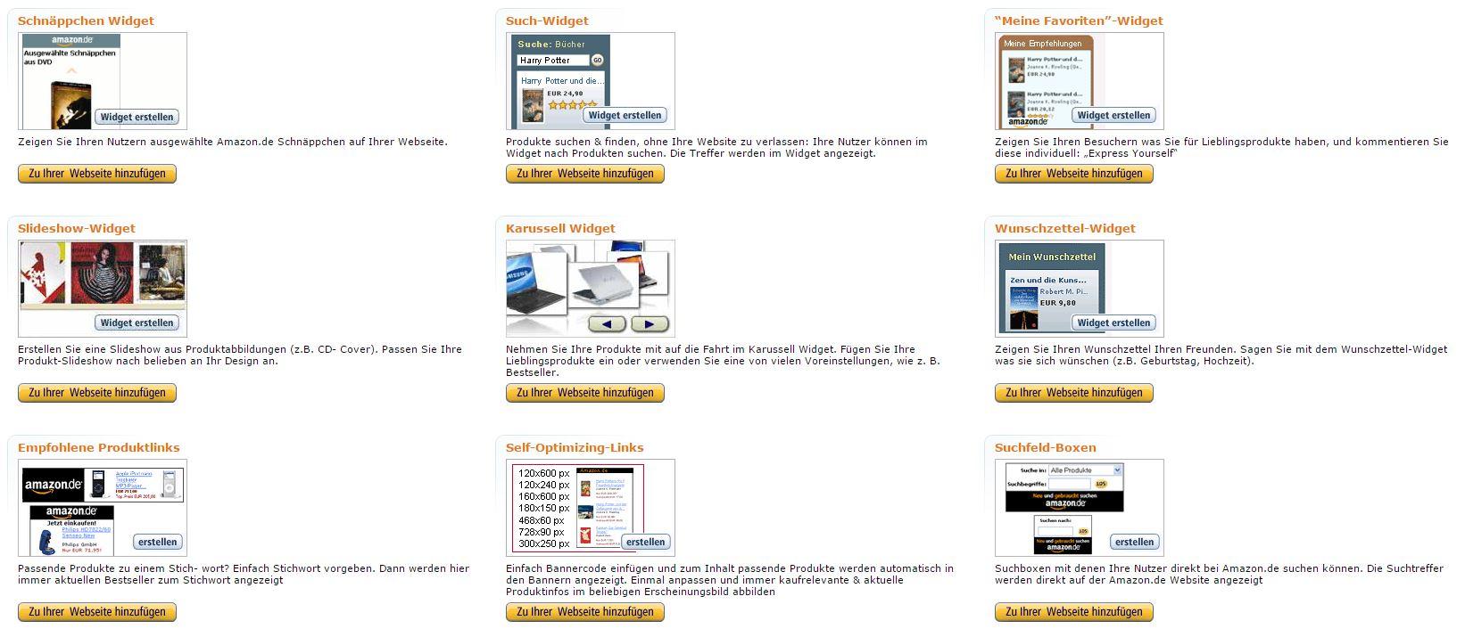 Amazon - Widgets