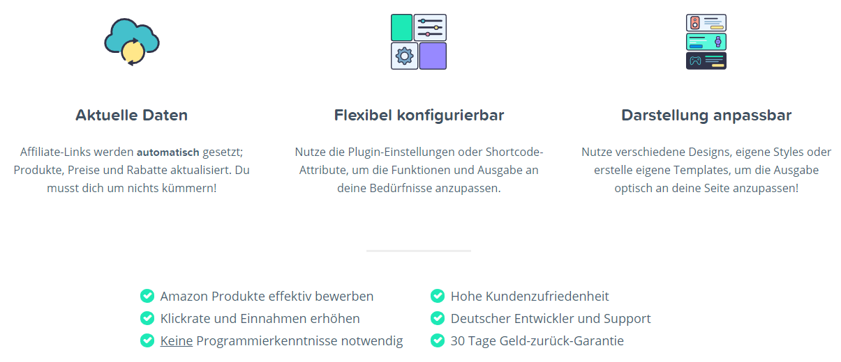 Amazon Affiliate for WordPress Plugin AAWP Funktionen