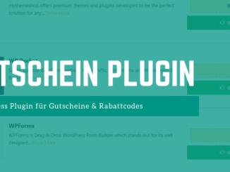 Wordpress Gutschein Plugin