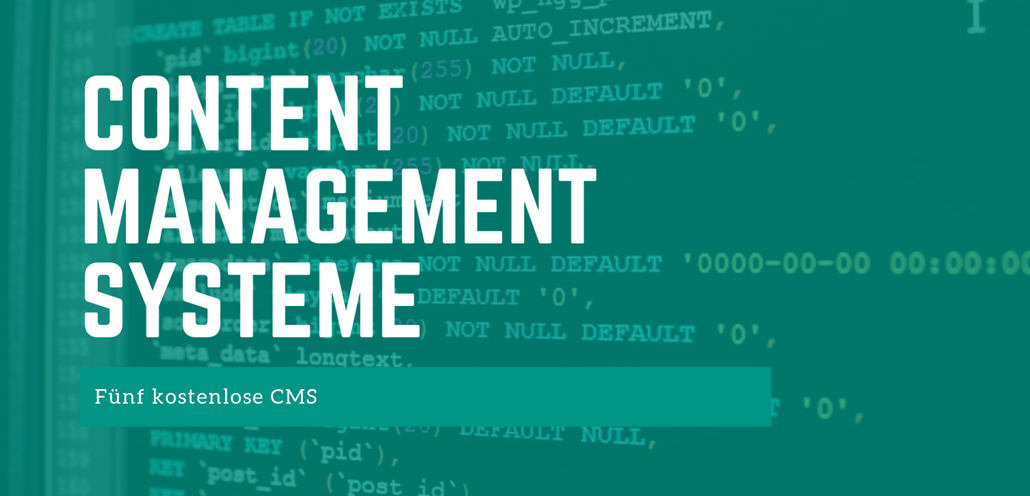 Content Managment Systeme CMS kostenlos - FB
