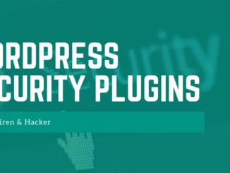 Wordpress Security Plugins - FB